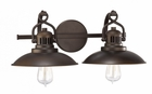 Capital Lighting (3792) O'Neill 2 Light Vanity Fixture shown in Burnished Bronze