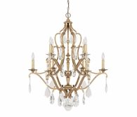 Capital Lighting (4180) Blakely 10 Light Chandelier with Crystals