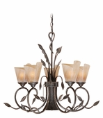 Vaxcel Lighitng (CP-CHB006) Capri 6 Light Chandelier