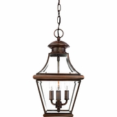 Quoizel Lighting (CAR1801AC) Carleton Outdoor Hanging Lantern in Patinaed Solid Copper with Antique Highlights
