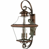 Quoizel Lighting (CAR8414AC) Carleton Outdoor Wall Sconce in Patinaed Solid Copper with Antique Highlights