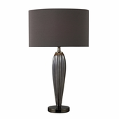 Carmichael Glass & Steel Table Lamp shown in Steel Smoked And Black Nickel by Dimond Lighting