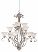 Vaxcel Lighitng (CS-CHU012) Caspian 12 Light Chandelier