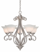 Vaxcel Lighitng (CS-CHU005) Caspian 5 Light Chandelier