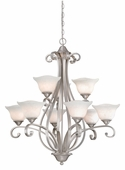 Vaxcel Lighitng (CS-CHU009) Caspian 9 Light Chandelier