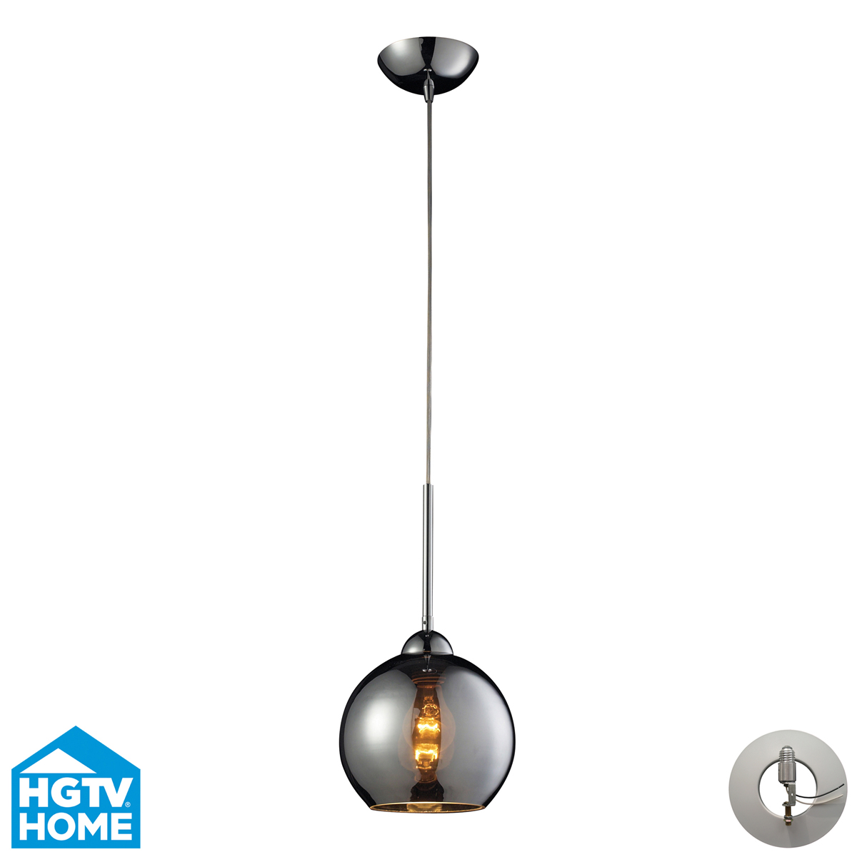 elk lighting 10240 1chr la cassandra 8 inch mini pendant. Black Bedroom Furniture Sets. Home Design Ideas