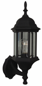 Exteriors by Craftmade (Z290-05) Hex Style 1 Light Small Wall Mount in Matte Black & Clear Beveled Glass