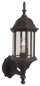 Exteriors by Craftmade (Z290-07) Hex Style 1 Light Small Wall Mount in Rust & Clear Beveled Glass