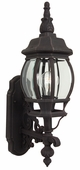 Exteriors by Craftmade (Z320-07) French Style 1 Light Small Wall Mount in Rust & Clear Beveled Glass