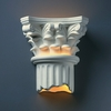Justice Design (CER-4705W) Outdoor Corinthian Column Wall Sconce from the Ambiance Collection