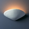 Justice Design (CER-3710) Clam Shell Wall Sconce from the Ambiance Collection