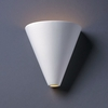 Justice Design (CER-2410) Cut Cone Wall Sconce from the Ambiance Collection