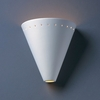 Justice Design (CER-2495) Cut Cone with Perfs Wall Sconce from the Ambiance Collection