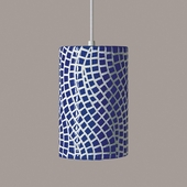 Channels Pendant 1 Light Fixture shown in Cobalt Blue by A19 Lighting