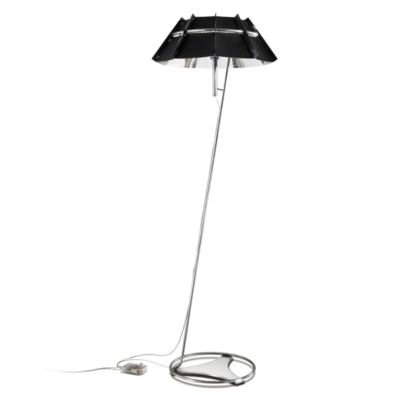 chapeau floor lamp in stainless steel made in manufactured in italy by. Black Bedroom Furniture Sets. Home Design Ideas