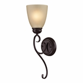 Chatham 1 Light Sconce shown in Oil Rubbed Bronze by Cornerstone Lighting