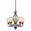Chatham 5 Light Chandelier shown in Oil Rubbed Bronze by Cornerstone Lighting
