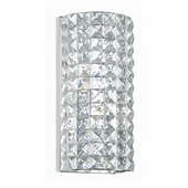 Crystorama (802-CH-CL-MWP) Chelsea 2 Light Chrome Sconce