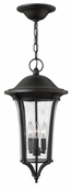 Hinkley Lighting (1382BK) Chesterfield Outdoor Hanger in Black with Clear Seedy Glass