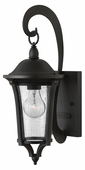 Hinkley Lighting (1380BK) Chesterfield Small Outdoor Wall Sconce in Black with Clear Seedy Glass