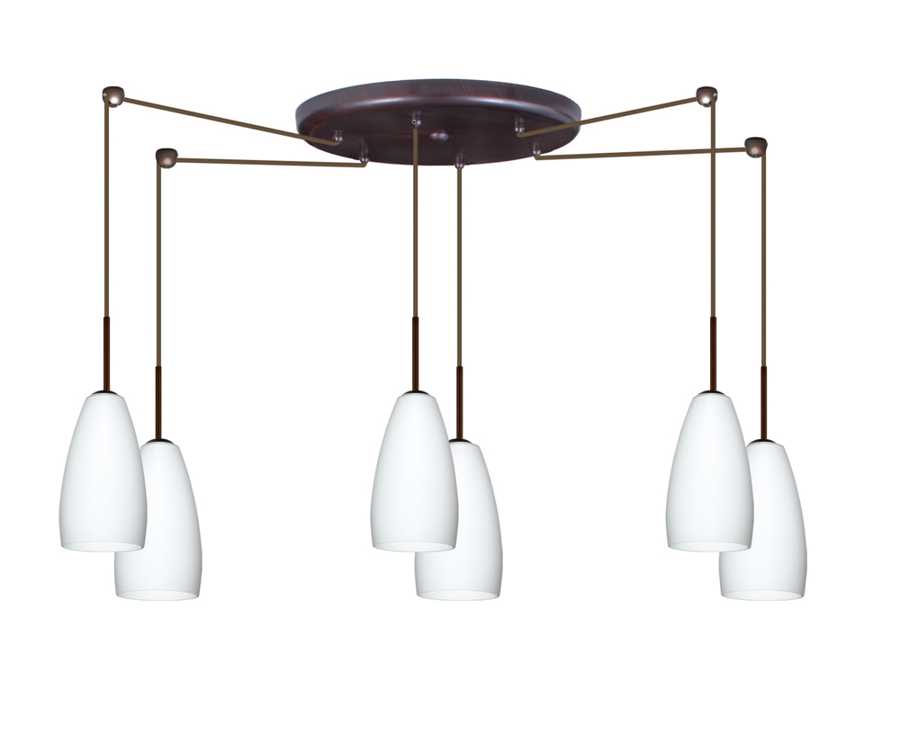 in bronze with opal matte glass shade by besa lighting 6bc 150907 br