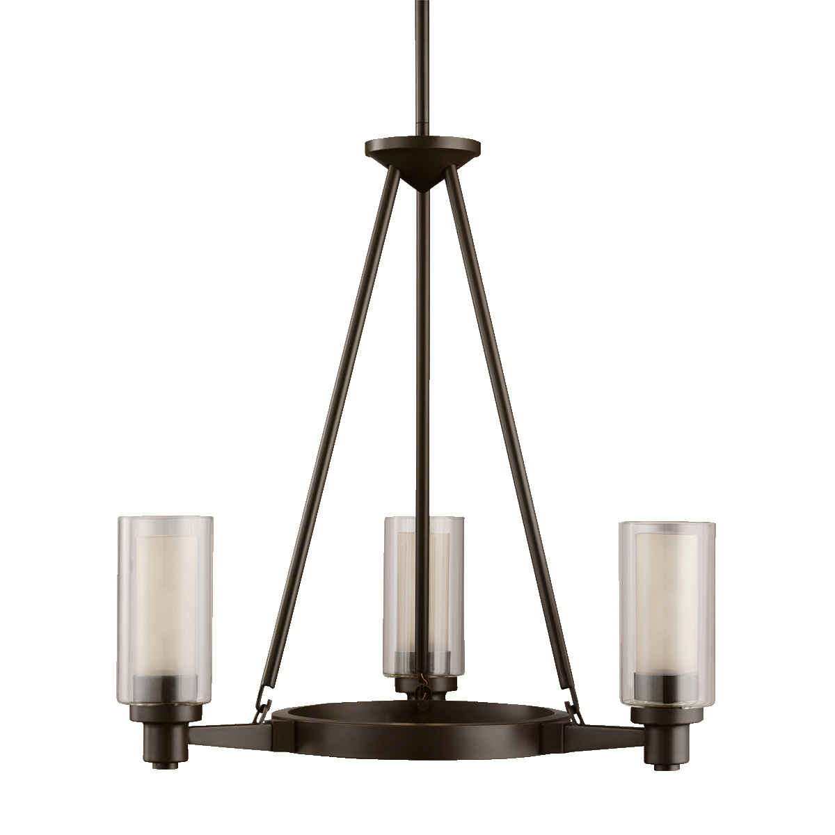 Kichler Lighting Oz Circolo Single Tier Small Three Light Chandelier In Olde Bronze