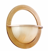 Corbett Lighting (62-21) Cirque 1 Light Wall Sconce shown in Champagne Leaf