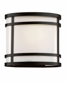 "Cityscape Oval 7"" Patio Light shown in Black by Trans Globe Lighting"
