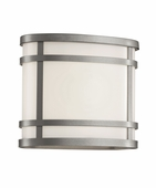 "Cityscape Oval 7"" Patio Light shown in Silver by Trans Globe Lighting"