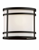 "Cityscape Oval 8"" Patio Light shown in Black by Trans Globe Lighting"