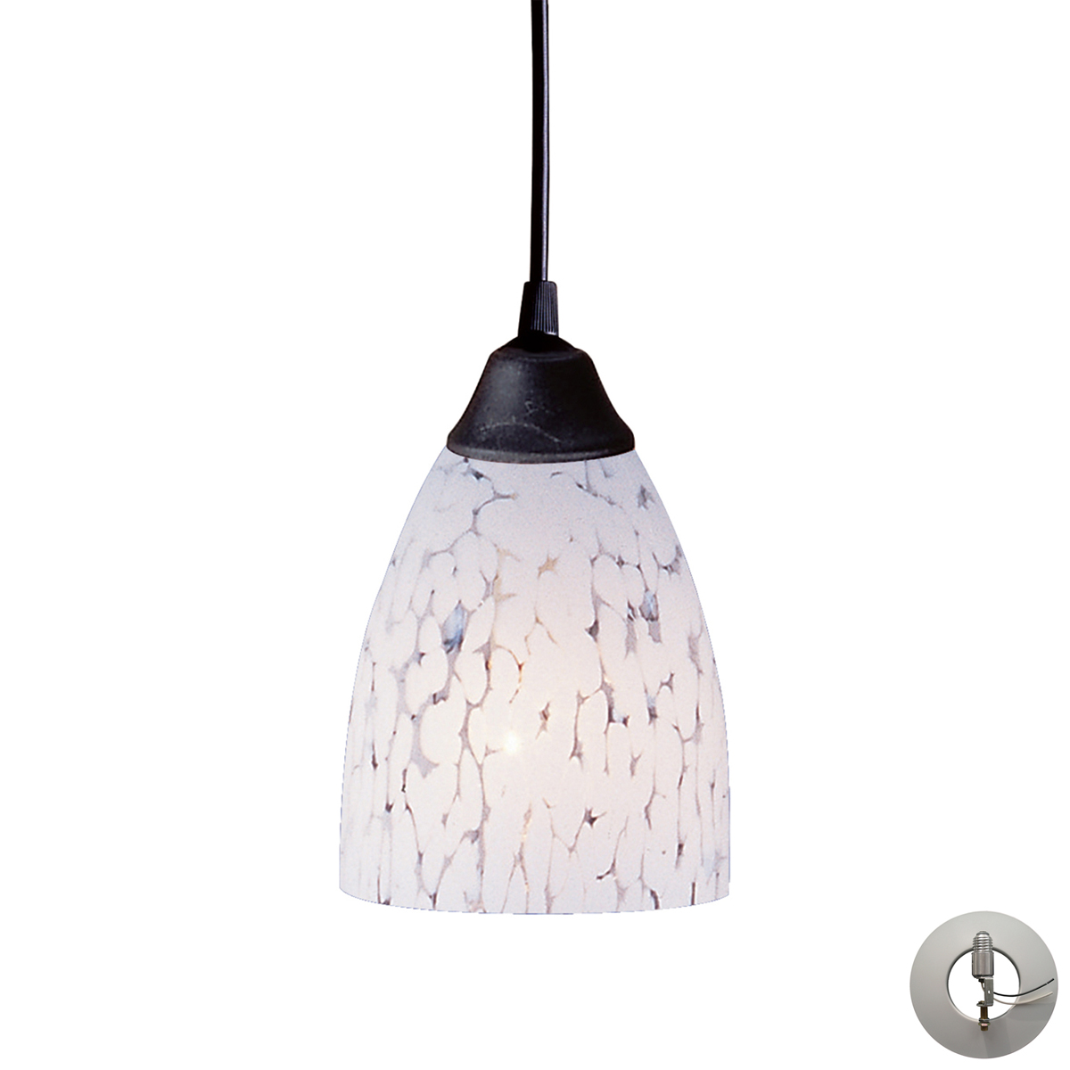 elk lighting 406 1sw la classico 5 inch mini pendant. Black Bedroom Furniture Sets. Home Design Ideas