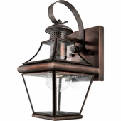 Quoizel Lighting (CAR8406AC) Carleton Outdoor Wall Sconce in Patinaed Solid Copper with Antique Highlights