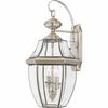 CLEARANCE -Newbury- Americana Style Newbury Outdoor Fixture In Pewter Finish From Quoizel Lighting- NY8317P