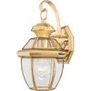 CLEARANCE -Newbury- Americana Style Newbury Outdoor Fixture In Polished Brass Finish From Quoizel Lighting- NY8315B