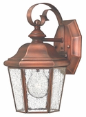 Hinkley Lighting (2260AP) Clifton Beach Small Outdoor Wall Sconce in Antique Copper with Clear Seedy Bound Shade