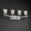 Justice Design (CLD-8594) Archway 4-Light Bath Bar from the Clouds Collection