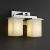 Justice Design (CLD-8672) Montana 2-Light Bath Bar from the Clouds Collection