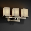 Justice Design (CLD-8673) Montana 3-Light Bath Bar from the Clouds Collection
