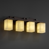 Justice Design (CLD-8674) Montana 4-Light Bath Bar from the Clouds Collection