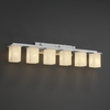 Justice Design (CLD-8686) Montana 6-Light Bath Bar from the Clouds Collection