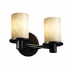 Justice Design (CLD-8512) Rondo 2-Light Bath Bar from the Clouds Collection