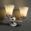 Justice Design (CLD-8522) Tradition 2-Light Bath Bar from the Clouds Collection