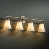 Justice Design (CLD-8524) Tradition 4-Light Bath Bar from the Clouds Collection
