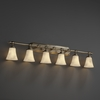 Justice Design (CLD-8526) Tradition 6-Light Bath Bar from the Clouds Collection