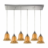 Elk Lighting (31130/6rc-tf) Confections 6 Light Pendant in Satin Nickel Finish