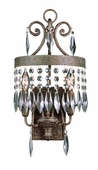 Crowned Crystal 2 Light Wall Sconce shown in Dark Bronze W/ Gold by Trans Globe Lighting