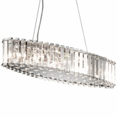 Crystal Skye Chandelier Oval 8 Light shown in Chrome by Kichler Lighting