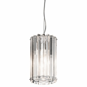 Crystal Skye Mini Pendant 1 Light shown in Chrome by Kichler Lighting