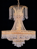 Crystorama (1471-GD-CL-SAQ) Empire II 9 Light Spectra Crystal Gold Chandelier II