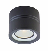 CSL Lighting (SS1015B) Entity 1 Light Flush Mount with Opal Conical Glass shown in Bronze